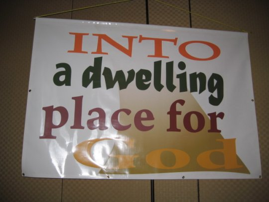 into a dwelling place for God