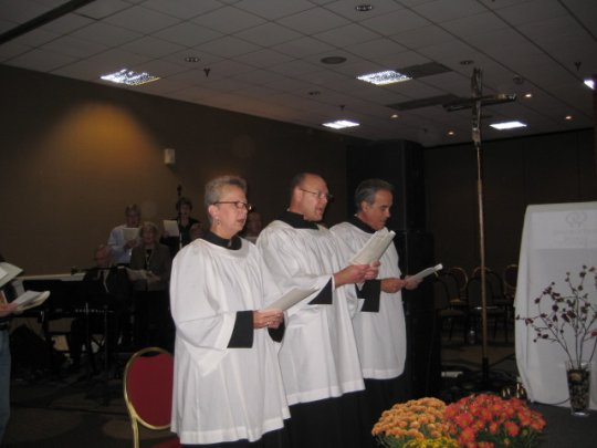 Accolytes at the Anglican Rite Mass