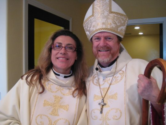 Rev. Janine+ and Bp. +Peter 6/25/11