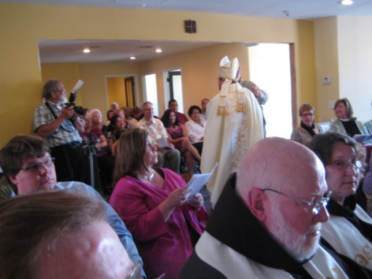 The Bishop censes the People of God in their new sanctuary 6/25/11