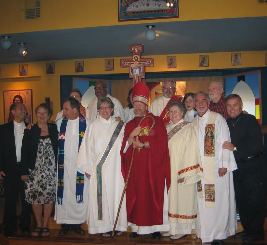 Group shot of clergy at 7/10/10 ordination