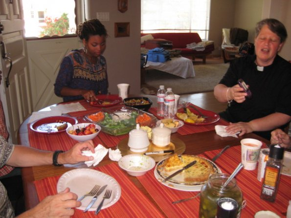 Sunday lunch at St. Junia's House 7/17/11