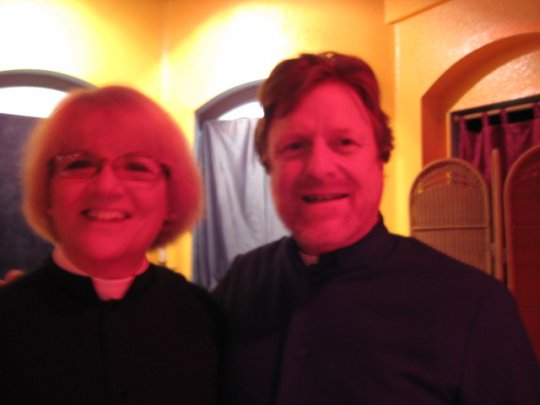 Bishop Peter and the Vicar of the local Episcopal Church