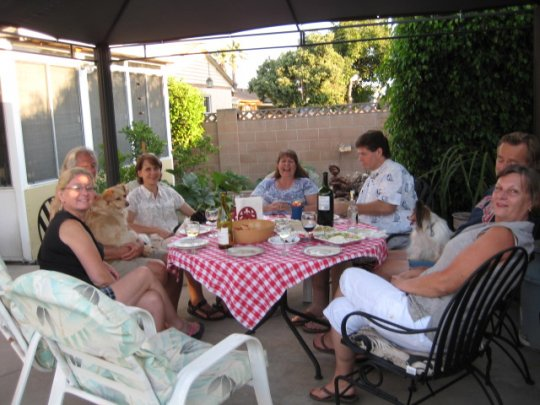 Here's the Supper Club gang at Victoria's and Gene's on 7/30/11
