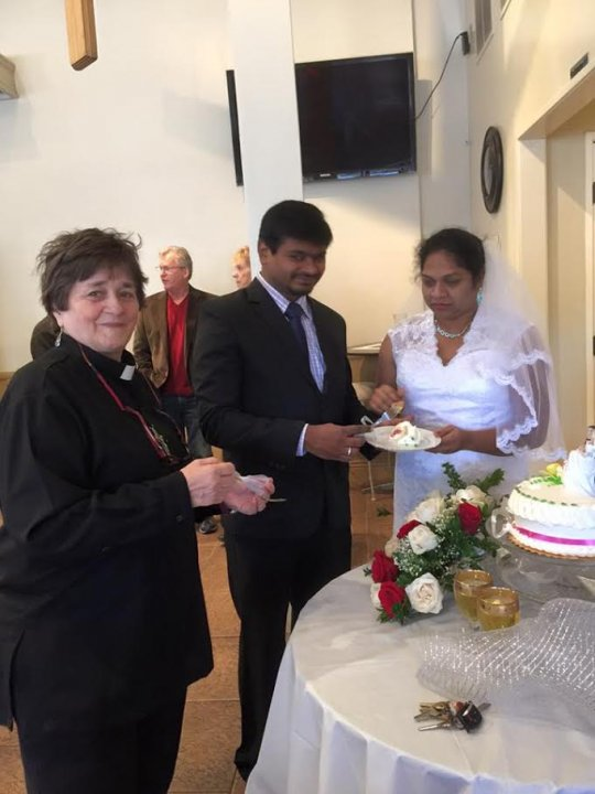 Fr. Paul and Anita from India, married at 8 MA Mass 12/27/15