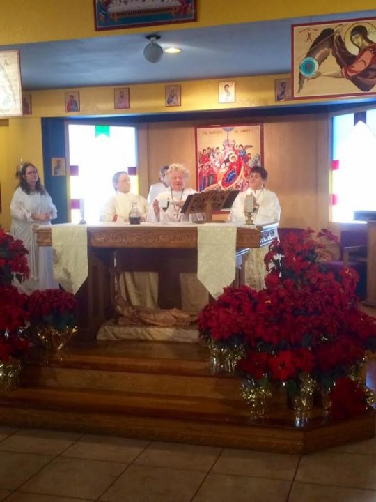 Epiphany Mass. Mother Jetty Presider with Deacon Nancy and Deacon Diane